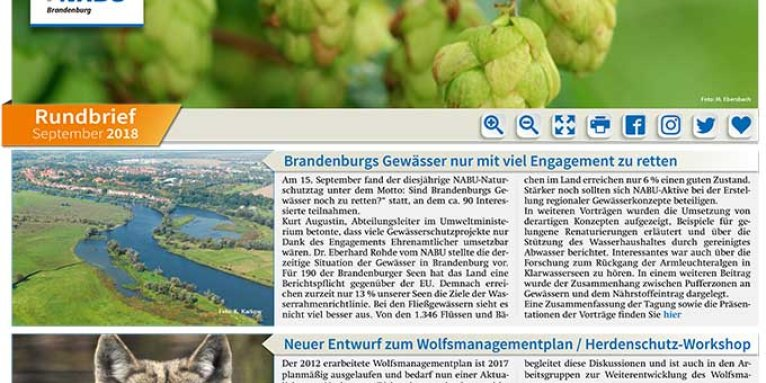 NABU Brandenburg - Rundbrief September 2018