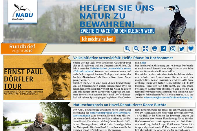 NABU Brandenburg - Rundbrief August 2019
