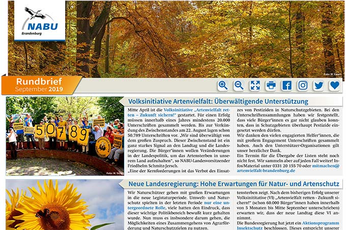 NABU Brandenburg - Rundbrief September 2019